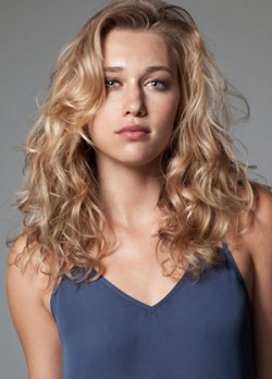 Blonde curly hair cut
